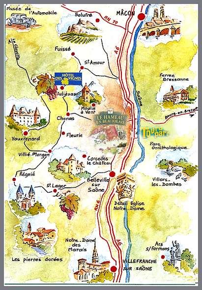 La region de beaujolais situee au sud de la bourgogne vous offre toute